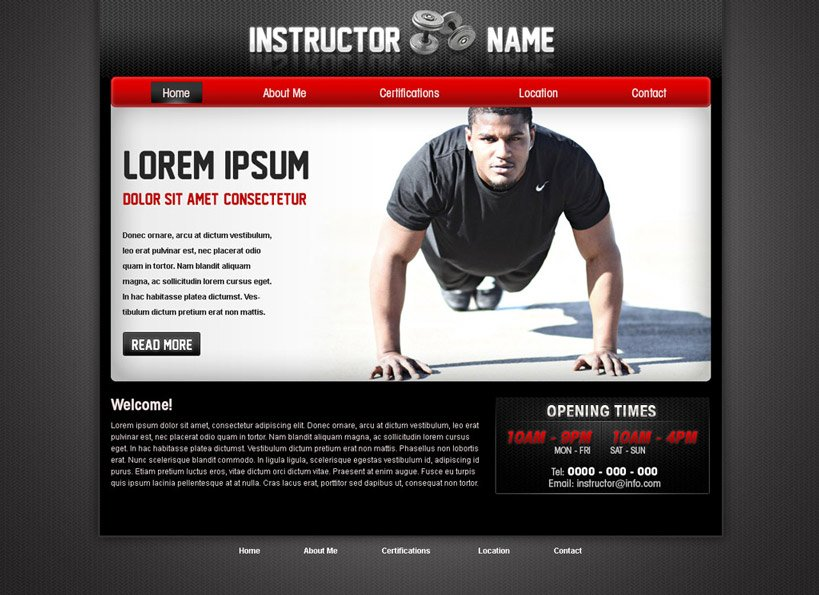 Fitness Web Template #28| Fitness Trainer Web Template | PHPJabbers