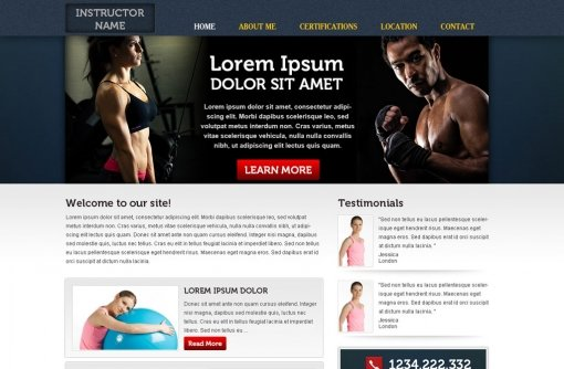 free fitness website template free fitness templates phpjabbers. Black Bedroom Furniture Sets. Home Design Ideas