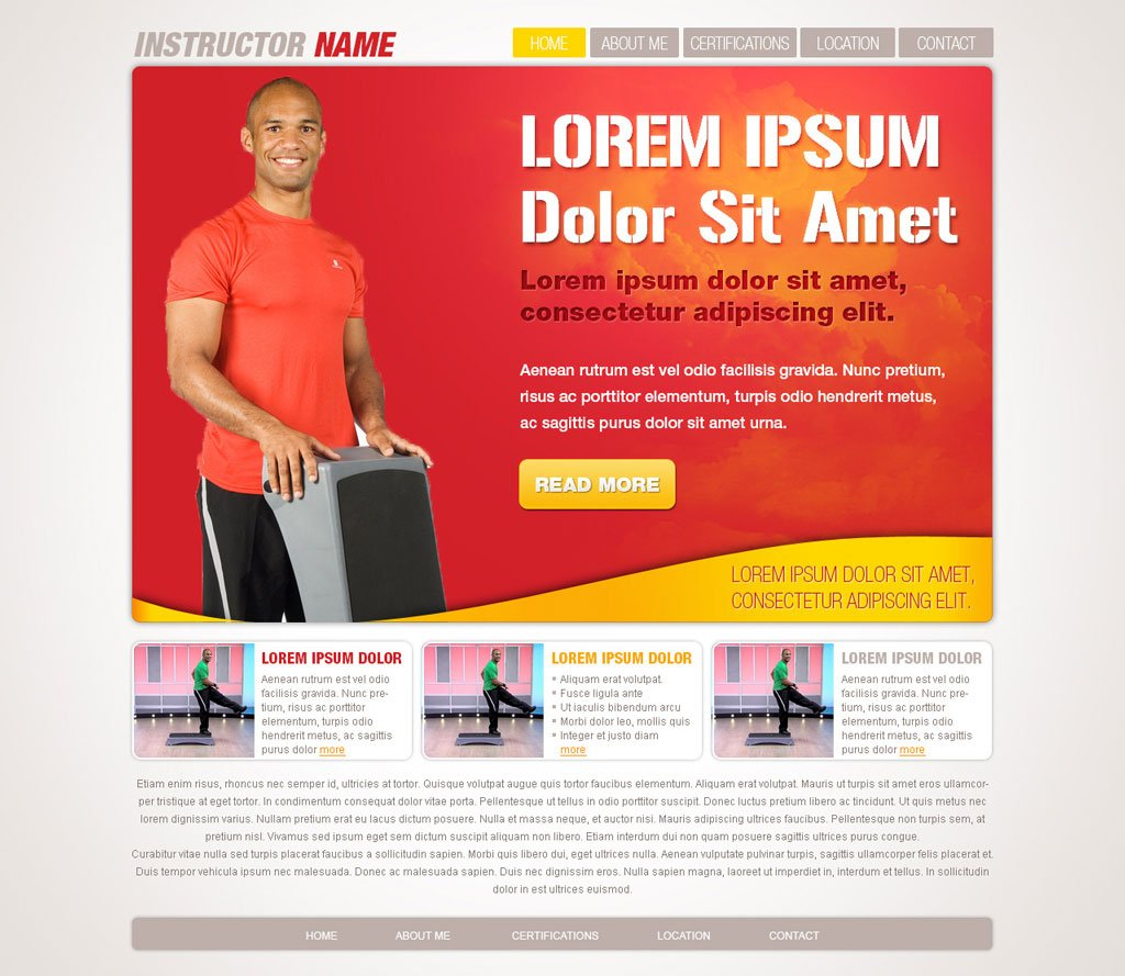 Fitness Website Templates Free Fitness Templates – Fitness Templates Free