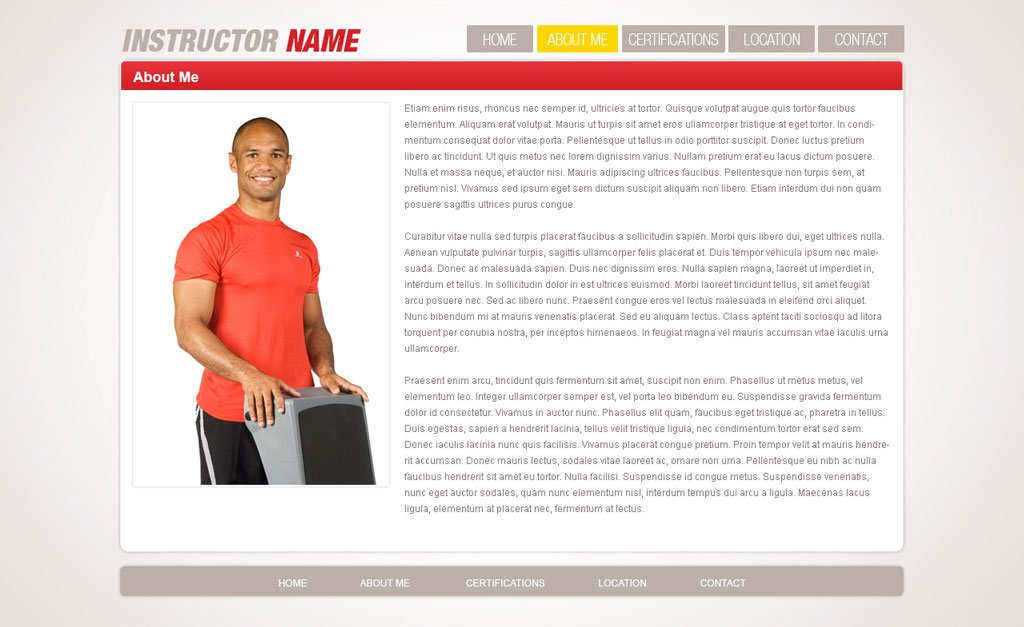 Free Fitness Website Template | Free Fitness Templates| PHPJabbers