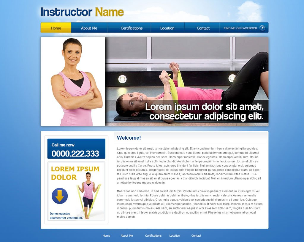 Free Fitness Website Template Free Fitness Templates