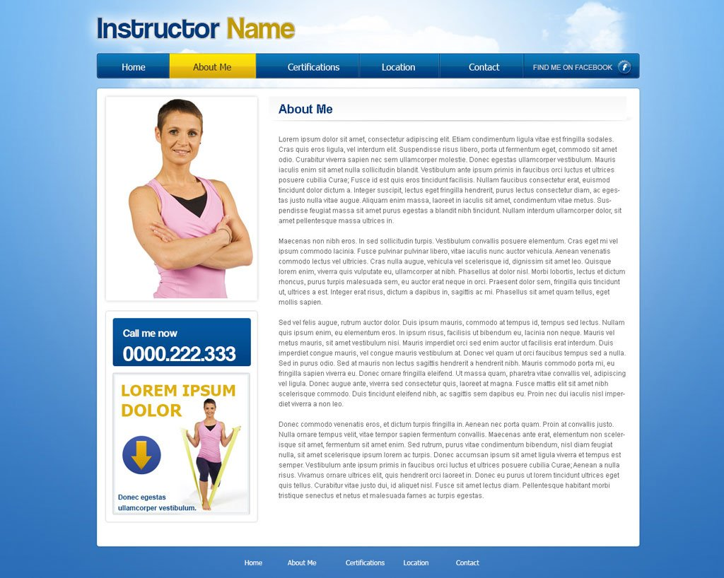 Free Fitness Website Template Free Fitness Template – Fitness Templates Free