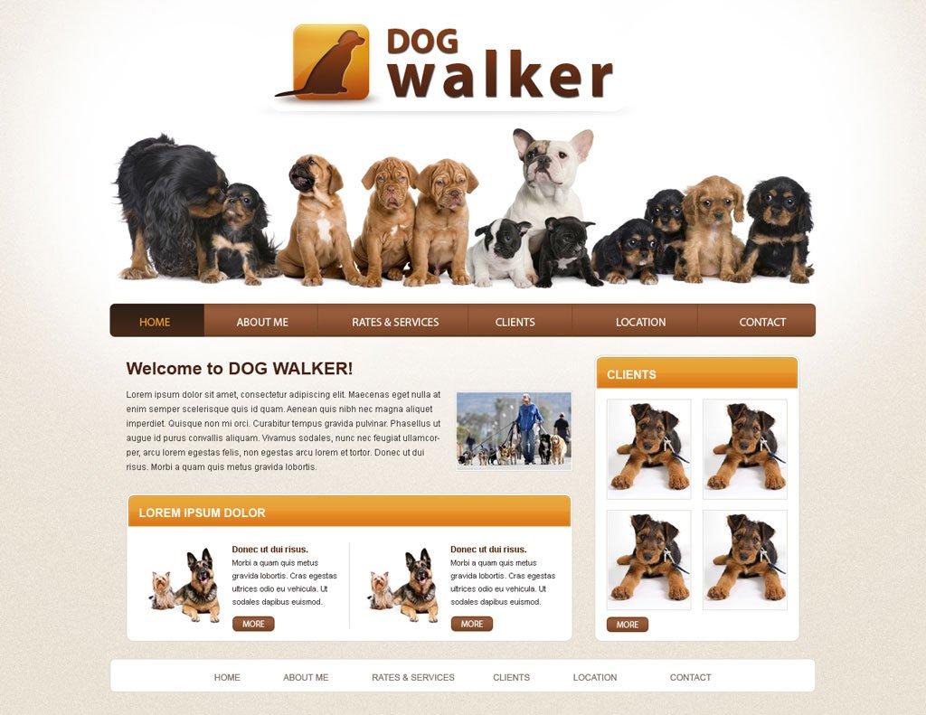 Dog Walker Website Template Free