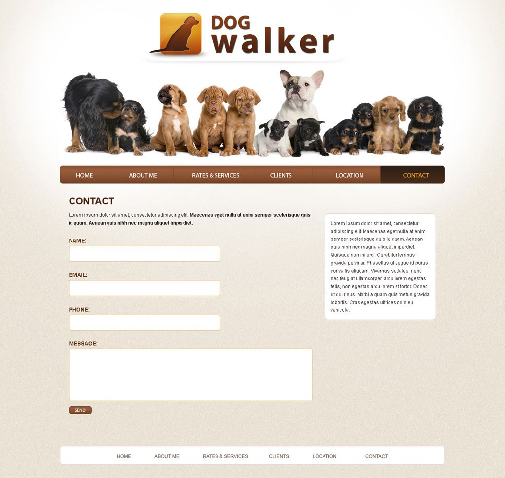 Dog walking template eliolera dog walker website template free dog walking templates phpjabbers pronofoot35fo Choice Image