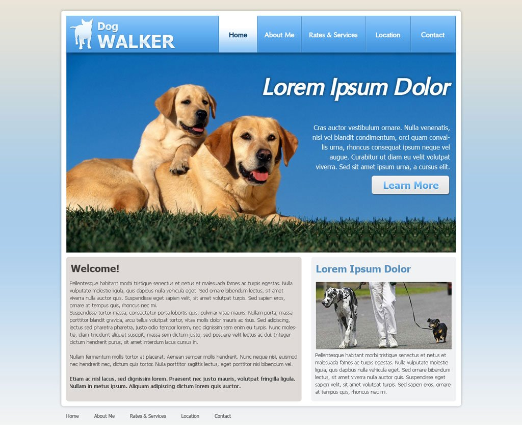 Dog Walking Website Template | Free Dog Walker Templates | PHPJabbers