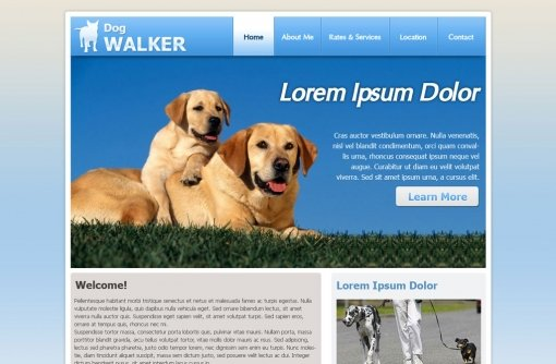 Dog Walking Website Template
