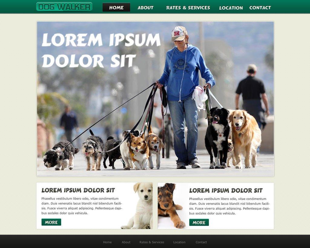 dog walking website template