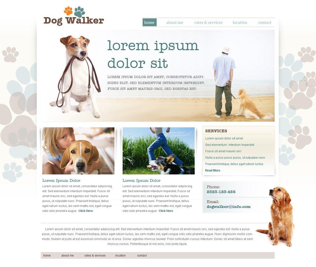 Dog Walking Website Template 51