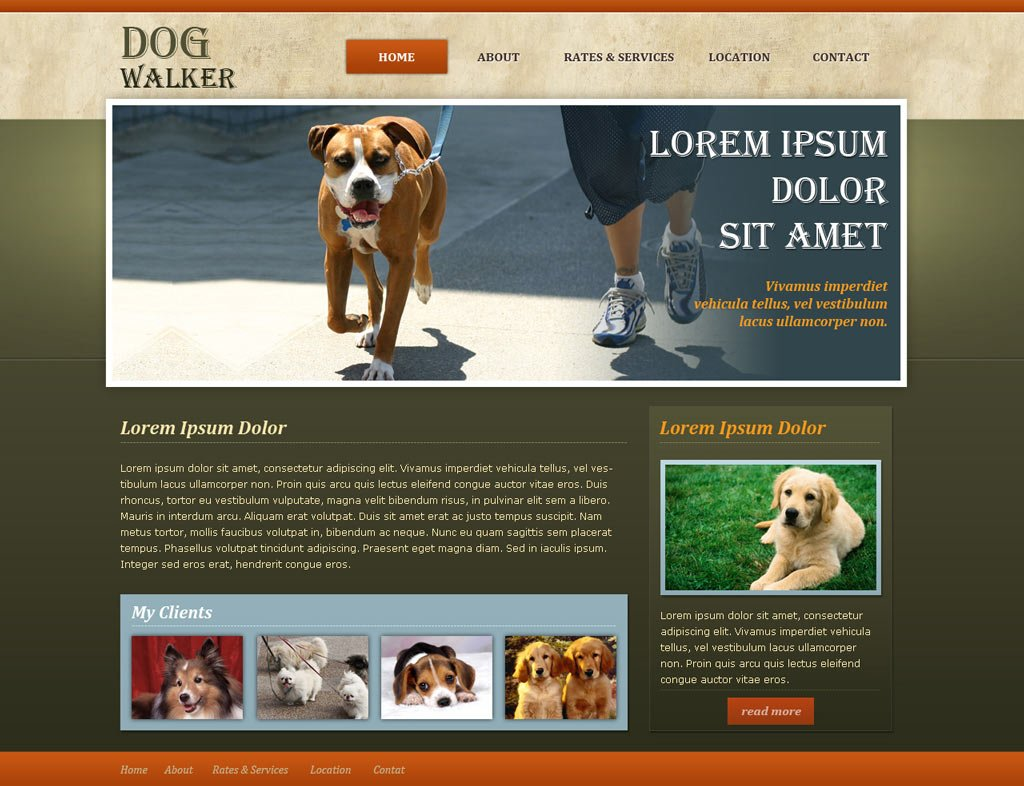 Dog Walker Website Template | Free Dog Walking Templates | PHPJabbers