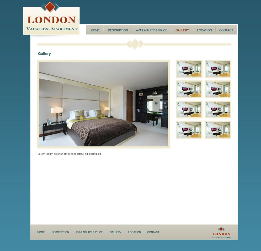 House Rent Websites: Vacation Rental Website Template #6