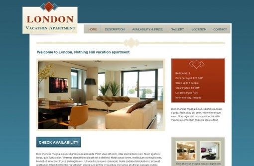 Vacation Rental Website Template