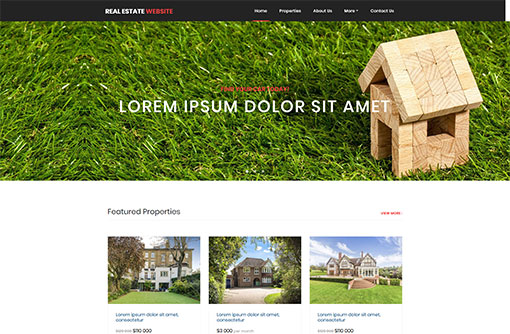 Free Real Estate Website Templates | PHPJabbers