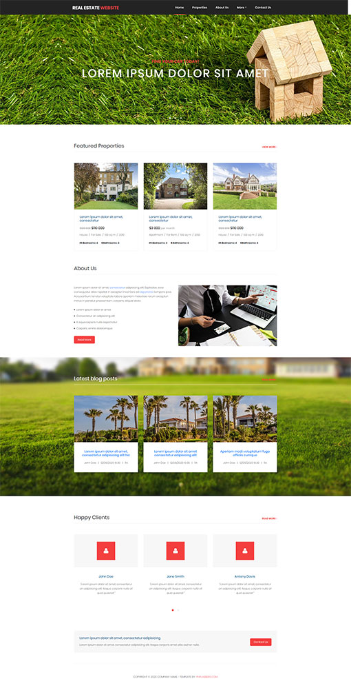 Real Estate Website Template 70