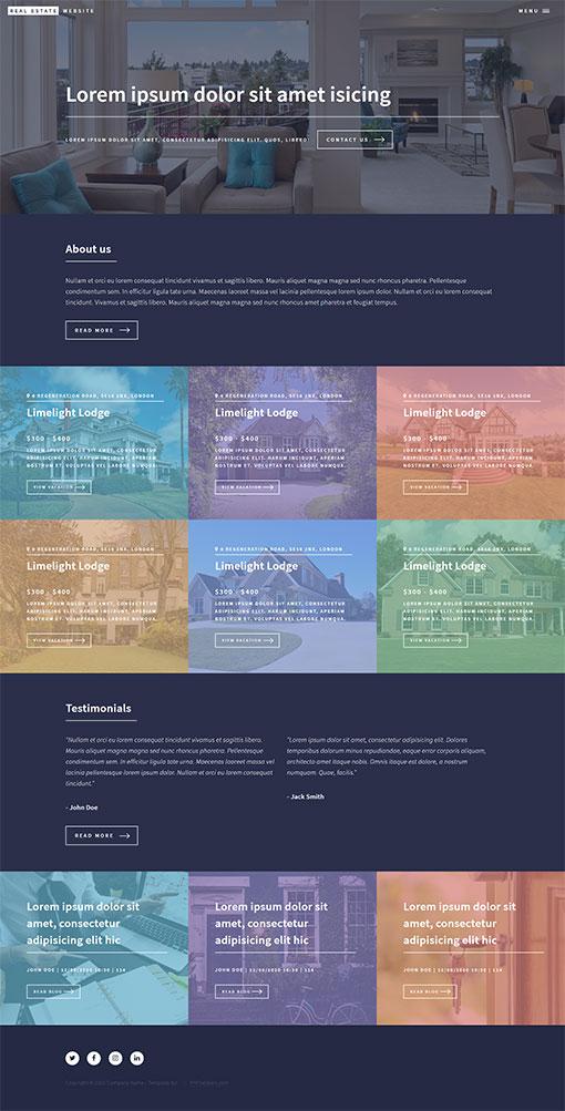 Real Estate Website Template 73