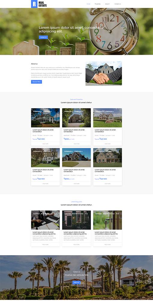 Real Estate Website Template 74