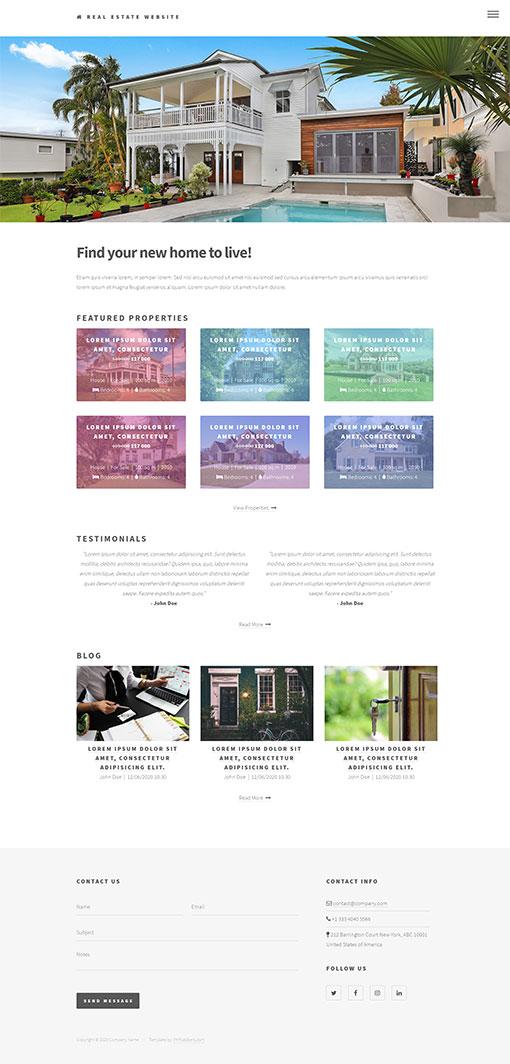 Real Estate Website Template 77
