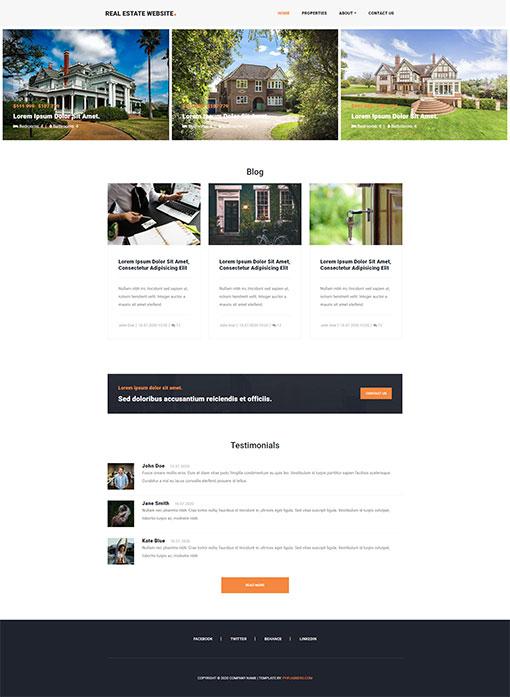 Real Estate Website Template 78