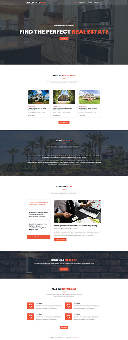 Real Estate Website Template 79