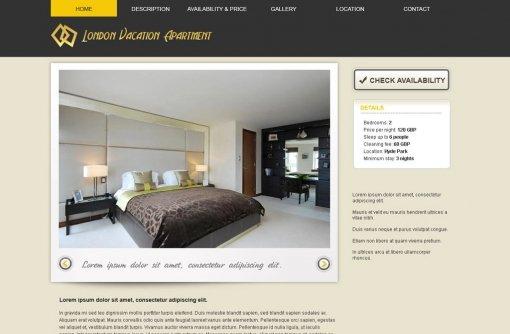 Vacation Rental Website Template