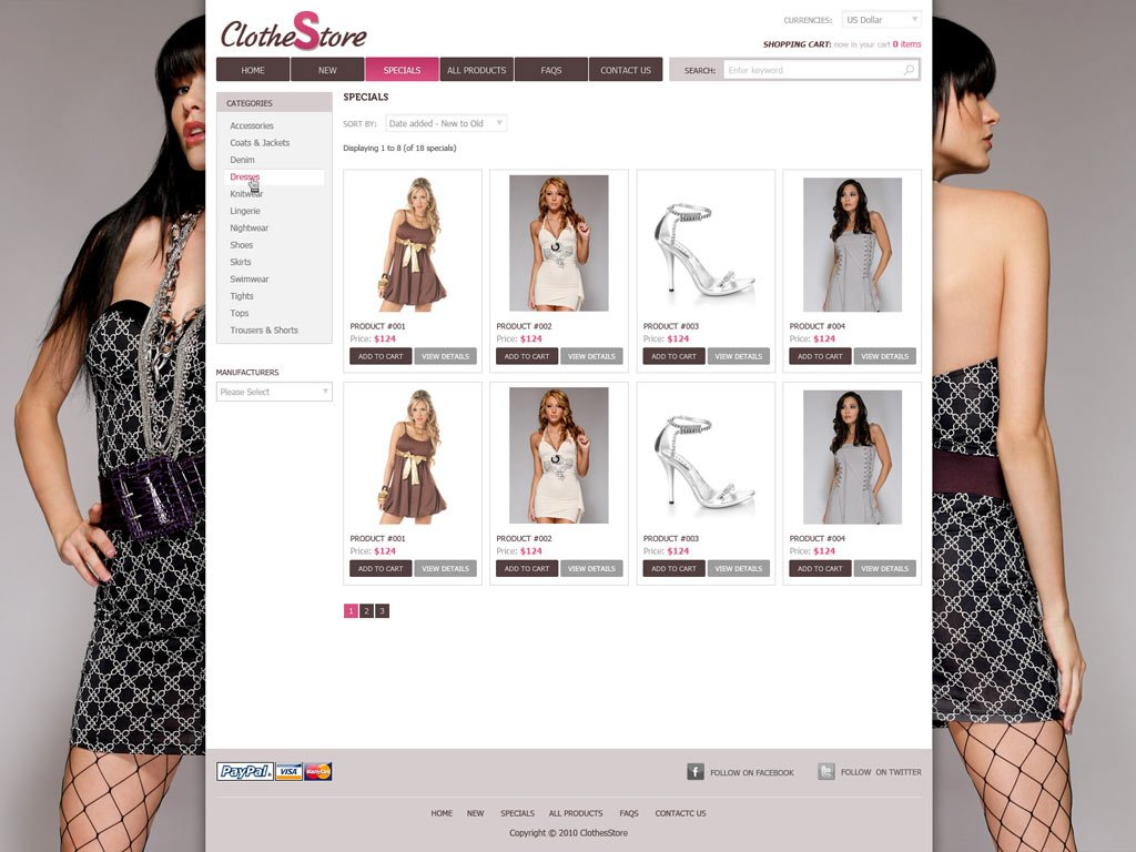 Fashion Website Template Free Shopping Website Templates