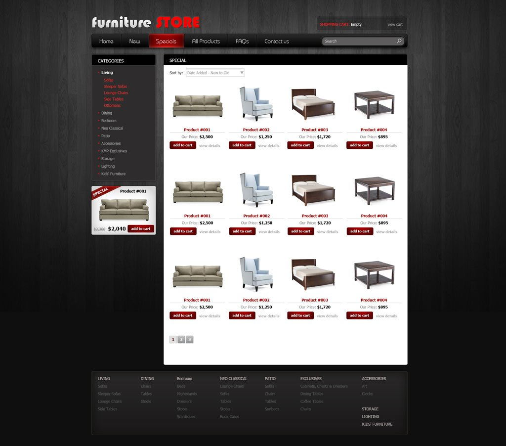 free online store template free ecommerce website templates phpjabbers. Black Bedroom Furniture Sets. Home Design Ideas