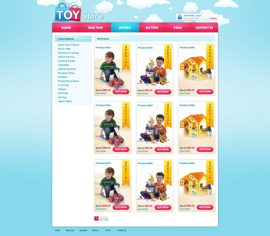 Free Ecommerce Website Template Free Online Store Templates