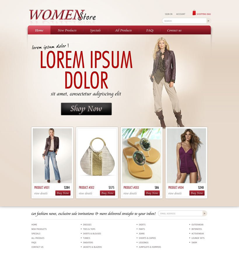 Shopping Website Template | Free eCommerce Website Templates ...