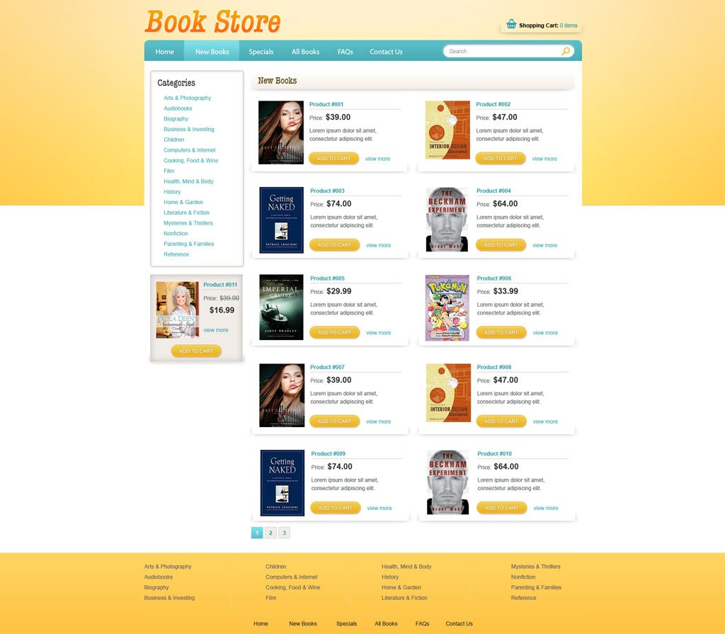 Book Online Store Template | Free eCommerce Website Templates ...