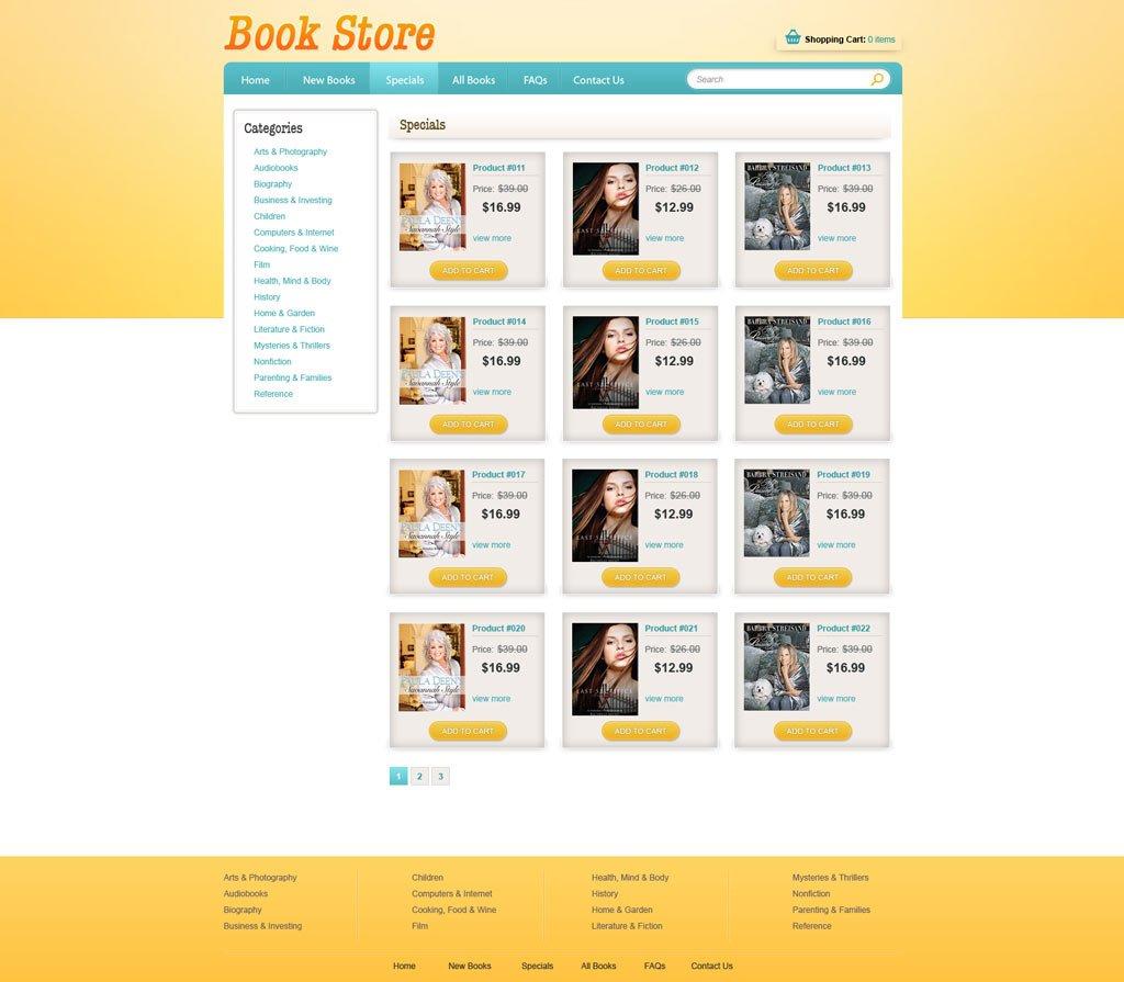 Book Store Template. eggthemes com prestashop template book store ...