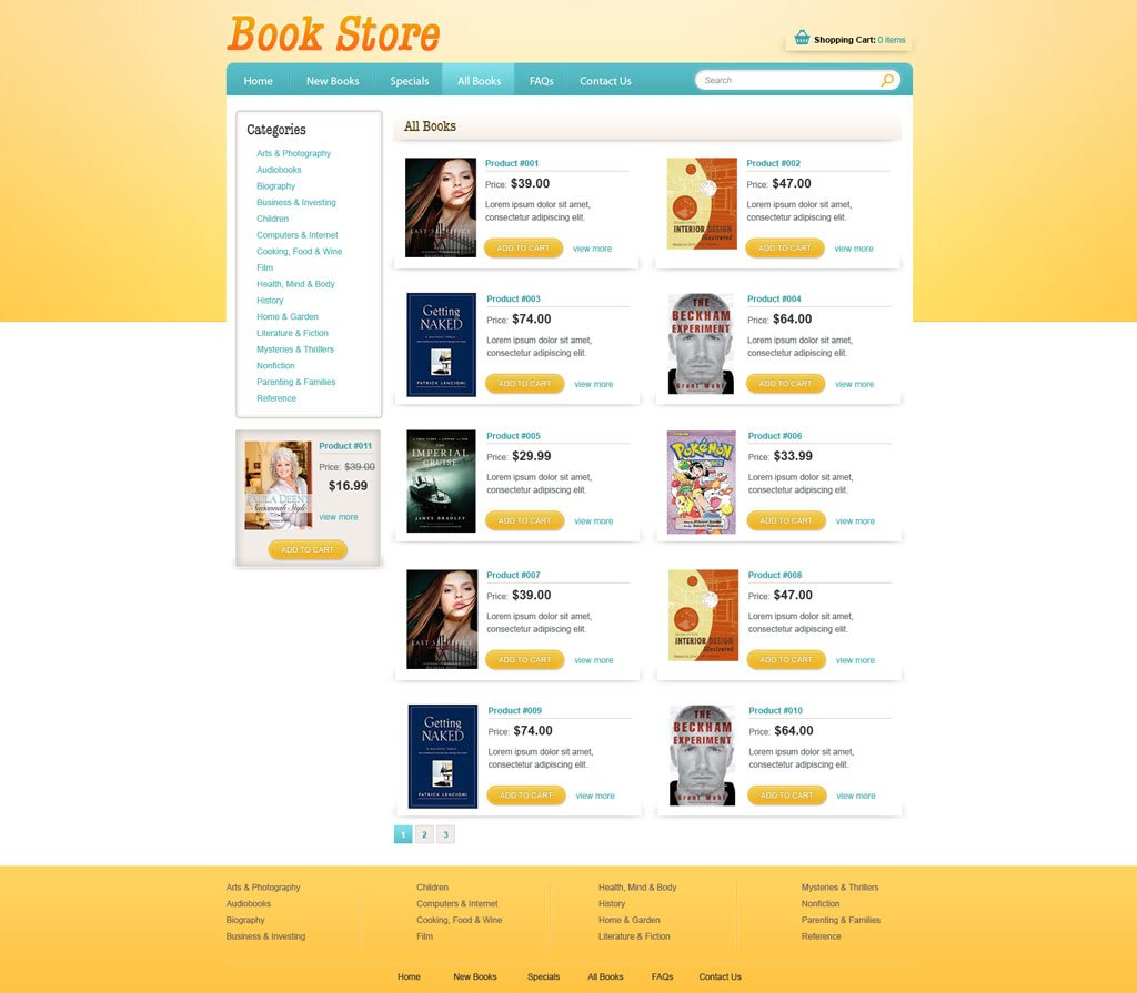 book online store template free ecommerce website templates phpjabbers. Black Bedroom Furniture Sets. Home Design Ideas