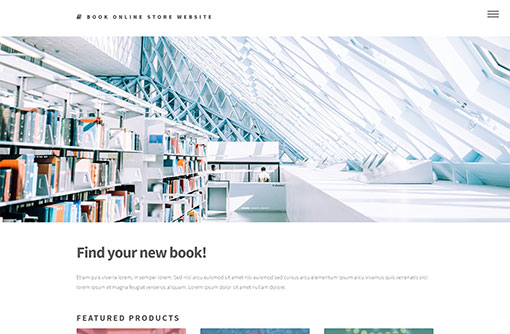 Book Online Store Template