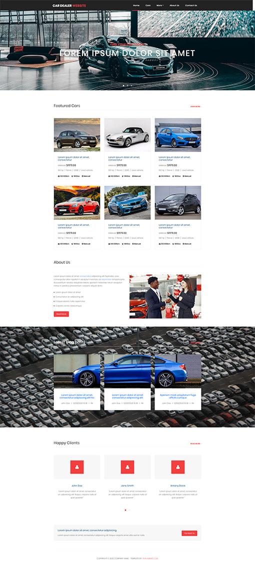 Car Dealer Website Template 87