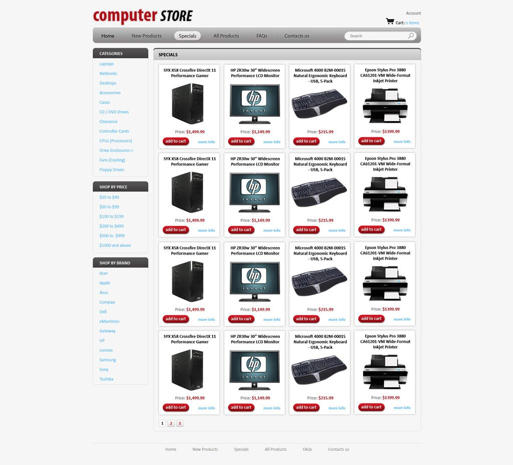 computers store web template free online store templates phpjabbers. Black Bedroom Furniture Sets. Home Design Ideas