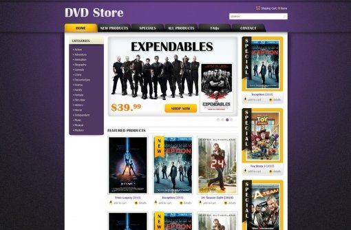 DVD Online Store Template