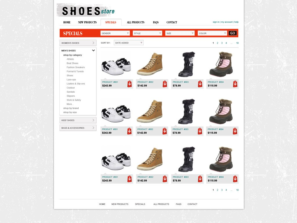 free shopping cart website template online store templates