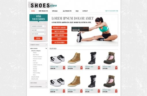 Shopping Cart Website Template