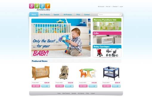 Baby Furniture Store Template