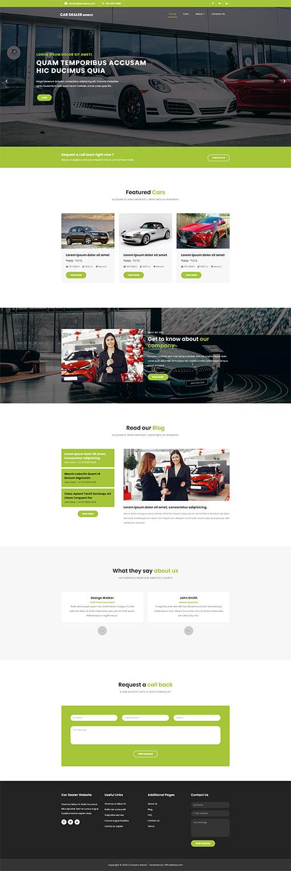 Car Website Template 97