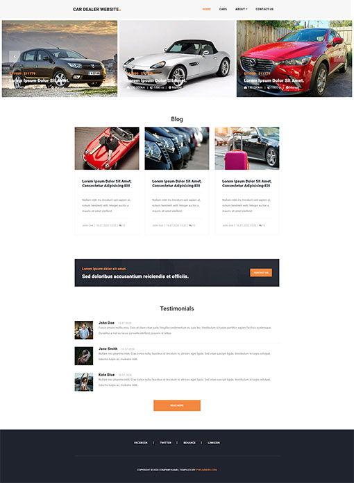 Car Website Template 98