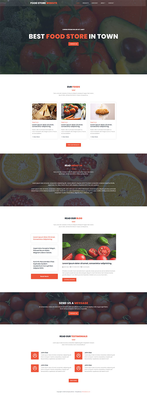 Food Store Website Template 99