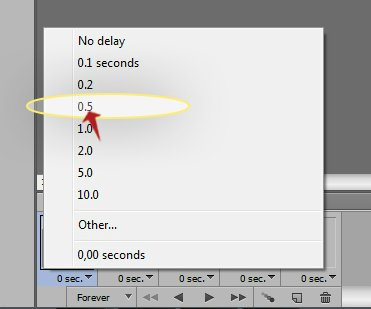 animation speed and delay
